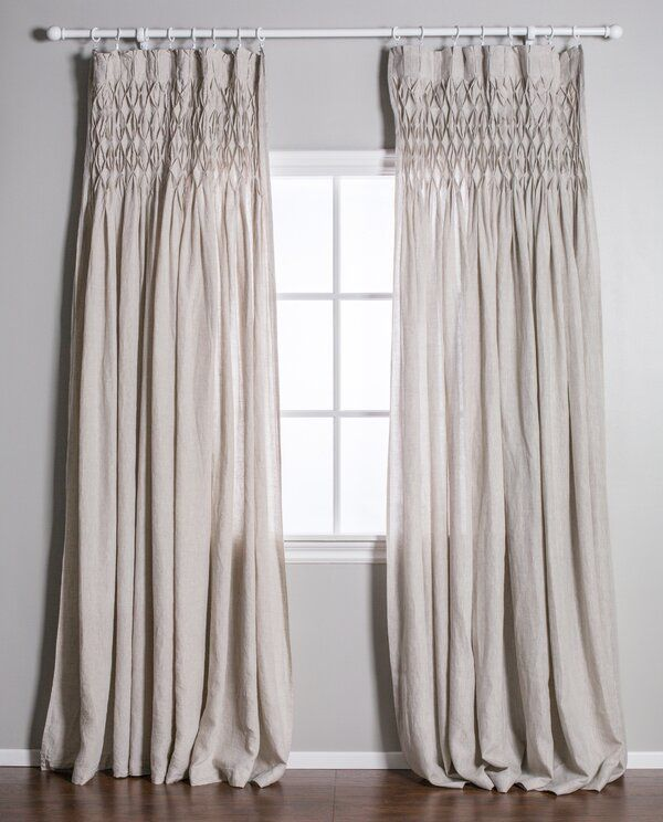 Single Solid Color Semi Sheer Pinch Pleat Curtains In 2020 Pinch Pleat Curtains Pom Pom At Home Pleated Curtains