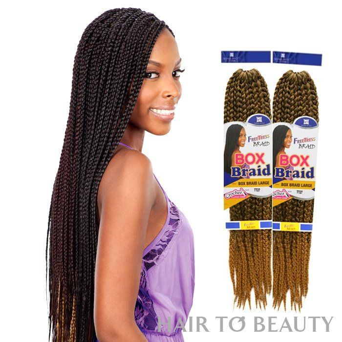 LARGE BOX BRAIDS - Freetress Synthetic Hair Crochet Braid Model ...