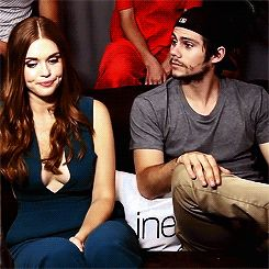 Dylan O'Brien and Holland Roden at Comic Con