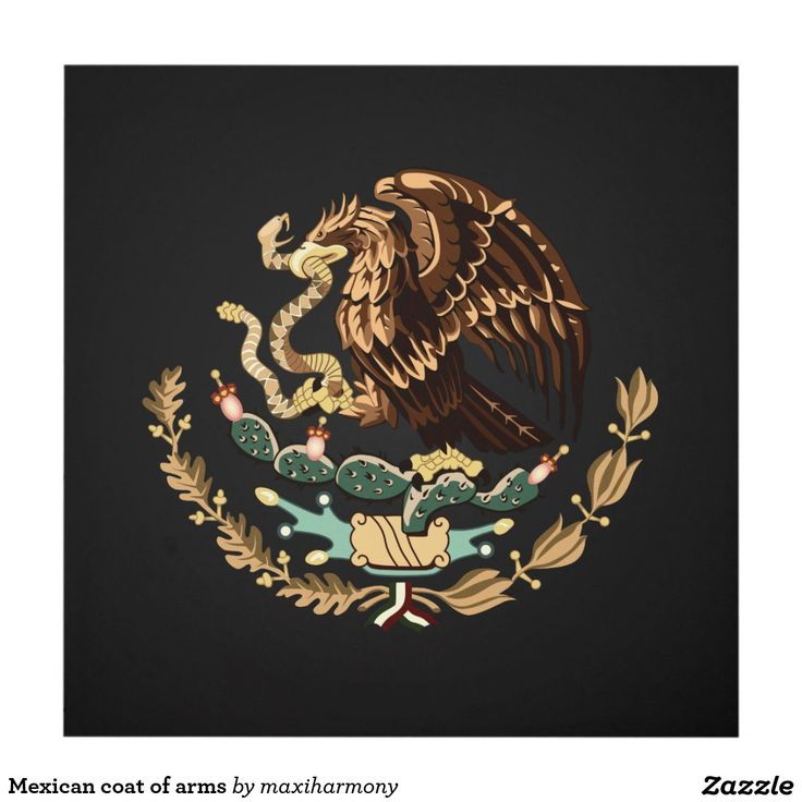 Mexican coat of arms wood wall art