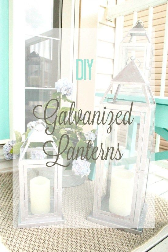 Large galvanized lanterns for outdoors