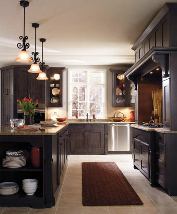 Kitchen Renovations Dark Cabinets: 17 Best Images About Dark Kitchen Light Floors On Pinterest