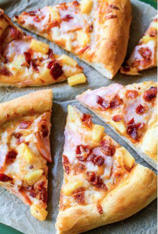 Pizza hawaïenne… croûte maison! #pizza #hawaïenne # recette #souper #croute # maison
