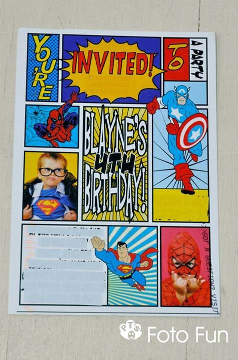 Super hero photos from PT´s Foto Fun, card from designer