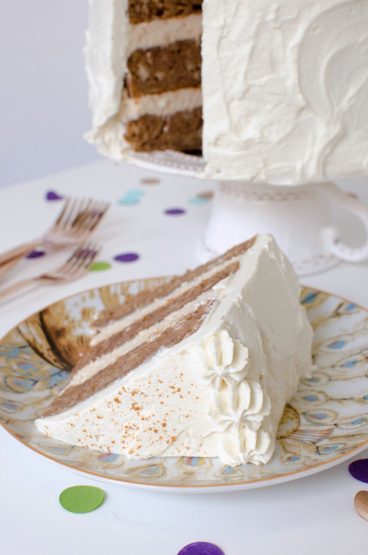 Chai Cake Recipe with Maple Cream Cheese Frosting and Maple Whipped Cream! Dessert is served!