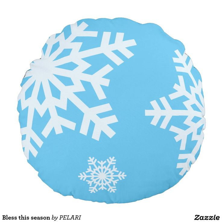 Bless this season round pillow
