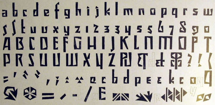 Cubist font Vojtĕk Preissig's Typeface (1914)
