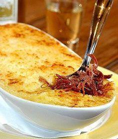 Receita de Escondidinho de mandioca com carne seca - escondidinho, mandioca, carne seca, boteco -                                                                                                                                                      Mais