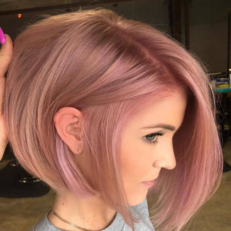 60 Of The Most Stunning Short Hairstyles On Instagram March 2019 Rose Hair Color Hair Styles Spring Hair Color