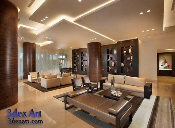 Modern False Ceiling Designs For Living Room And Hall 2018 With Lighting  Ideas, Multi Level Ceiling Designs 2018 New Ideas For False Ceiling Designs  For ... Part 71