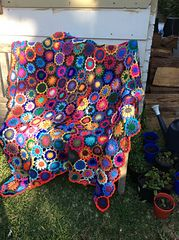 Ravelry: MargRaff's Flower throw