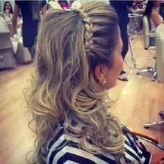 penteado tiara de trança