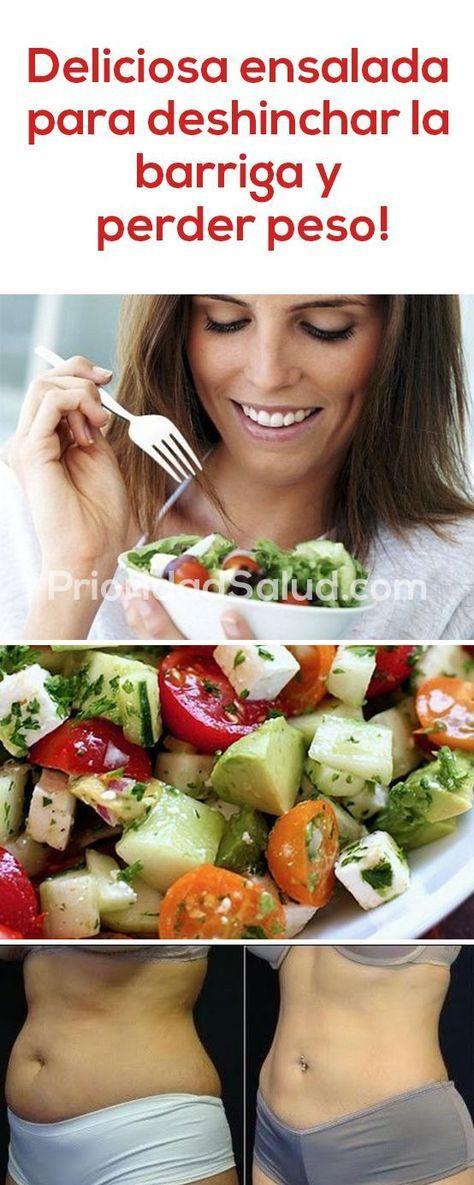 Deliciosa ensalada para deshinchar la barriga y perder peso.