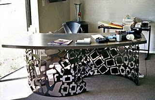 Laser cut office desk from sfitzgeraldfineart.com