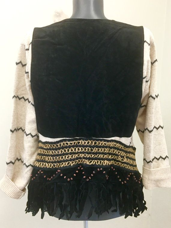 VERKOOP Upcycled Boho kleding gerecycleerd Top door 16October