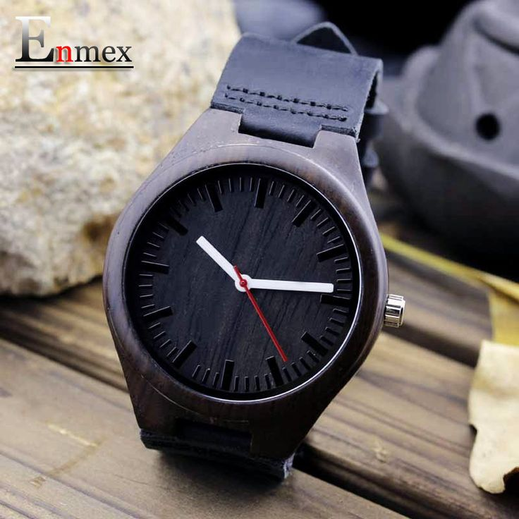 2016 festival Memorial Day gift Enmex dark colour Bamboo wristwatch work of art handmade natural wood quartz watches That`s just superb!  #shop #beauty #Woman's fashion #Products #Watch