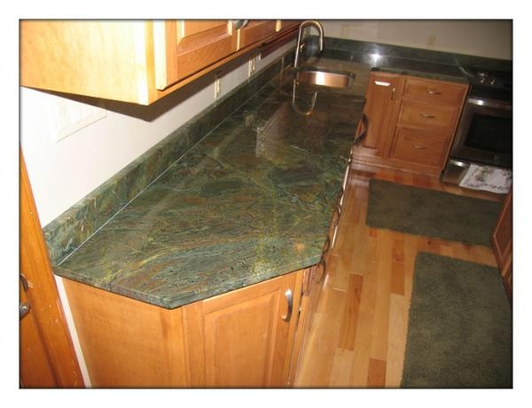 Another Kitchen With Verde Borgogna Granite · Granite CityCountertopsMid ...