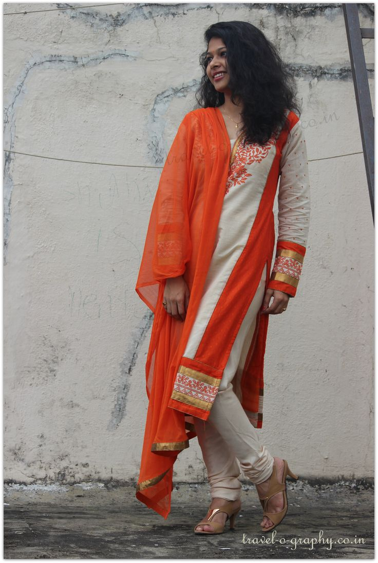 Indian Traditional wear. Indian Dress.  #indian #culture #Orange #navratrotsav #ashtmi