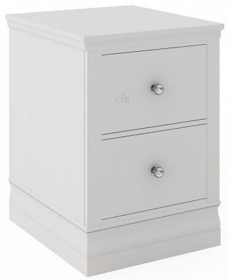 Corndell Oxford Annecy White Narrow Bedside Cabinet