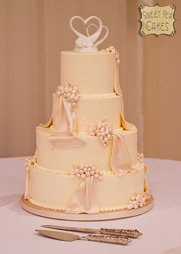 Grapes and Drapes Wedding Cake
