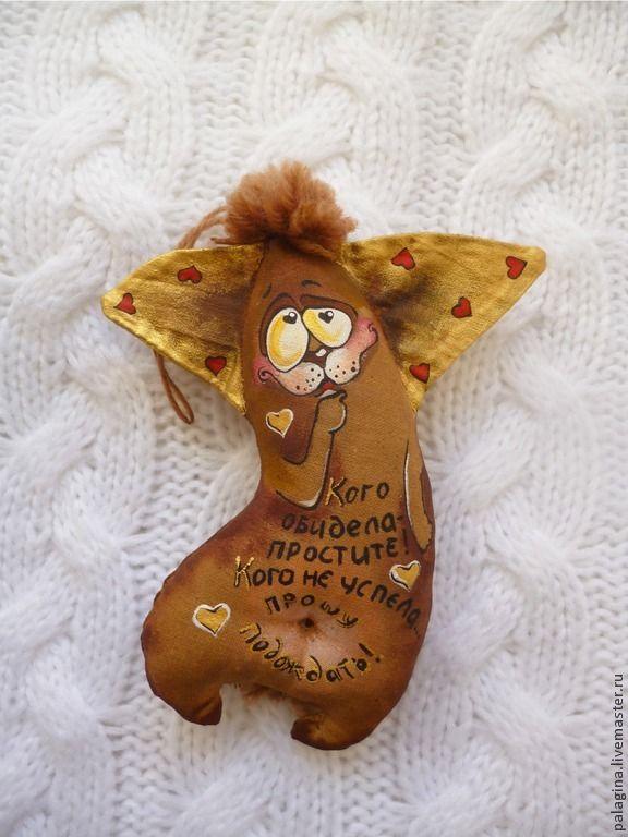 Купить Кофейные позитивчики -мышки и зайки - коричневый, бязь, игрушка ручной работы, игрушка в подарок