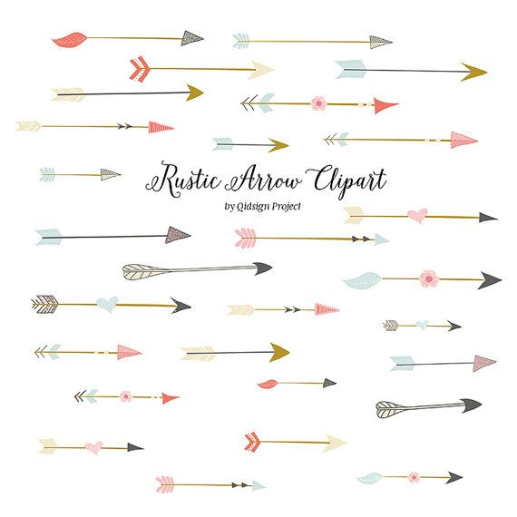 Hand drawn Rustic arrows clip art for your creative creation. You can create invitations, brochures, flyers, business cards, scrapbooking or