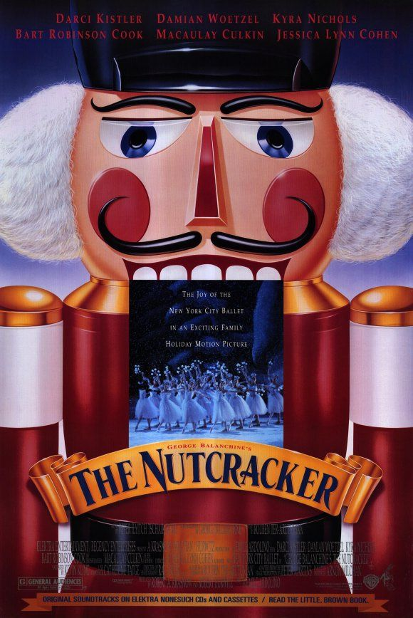 The Nutcracker , starring Darci Kistler, Damian Woetzel, Kyra Nichols, Bart Robinson Cook. On Christmas Eve, a little girl named Marie (Cohen) falls asleep after a party at her home and dreams... #Family #Fantasy #Music
