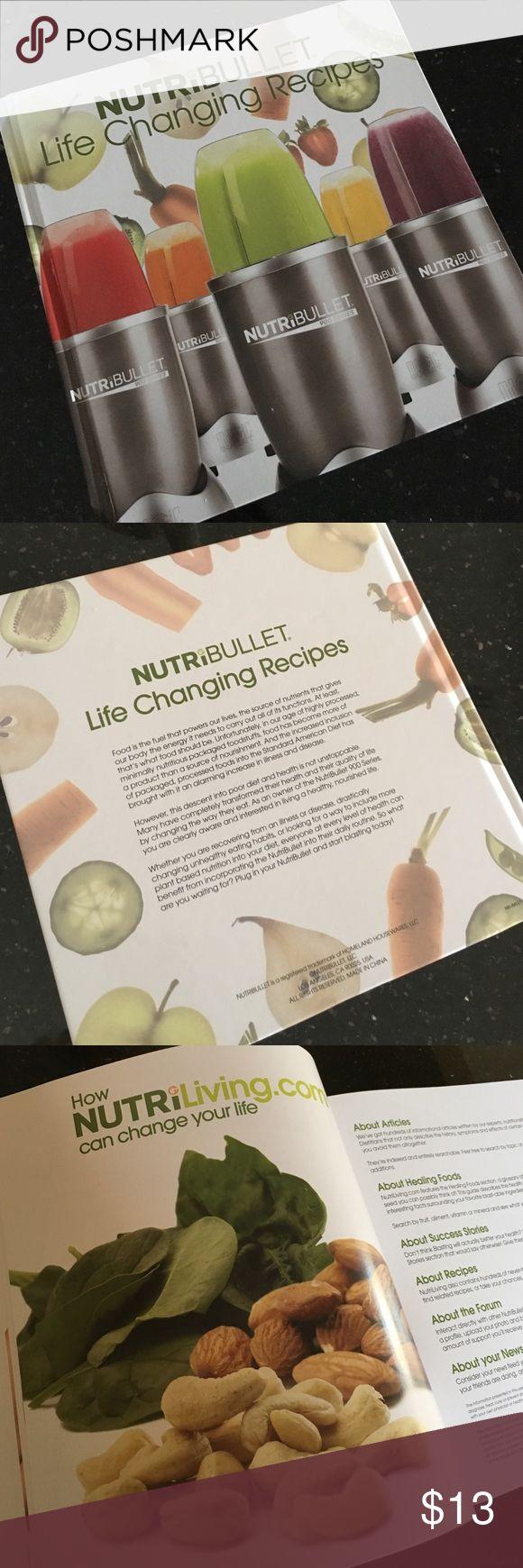 NUTRiBULLET  Life Changing Recipes NutriBullet  150 Pages of Life Changing Recipes. Hardcover. Accessories
