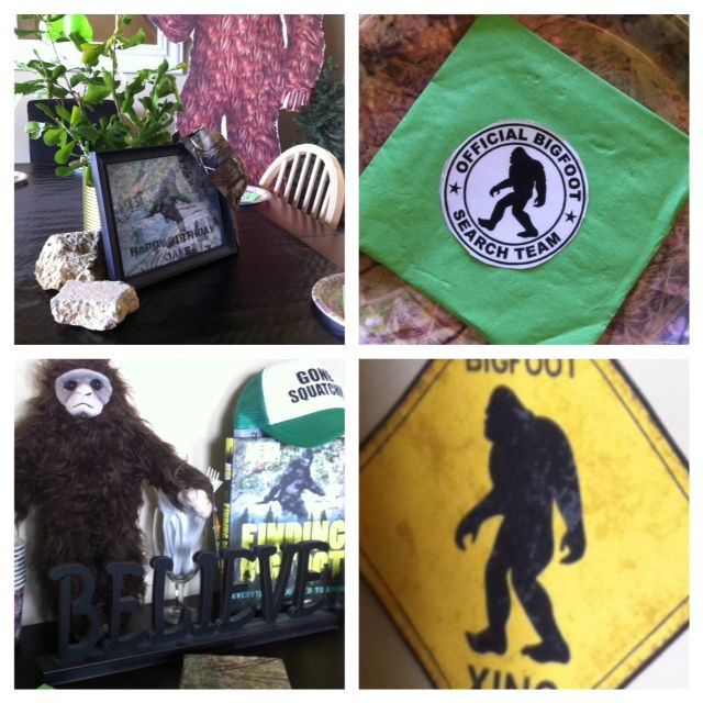 Finding Bigfoot Party Ideas