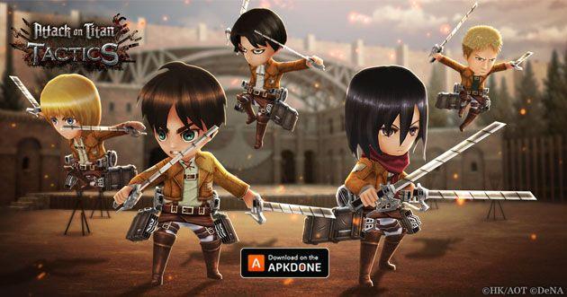 New Apk Attack On Titan Tactics Updated Moddedgames