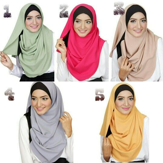 Pre-order Instant 2 Face Double Tone  Instan 2 Face Double Tone Description : Made of moss crepe material (non see thru)  Measurement:  -face hole 1 :26 cm  -face hole 2 : 28 cm   Pls PM to order ladiezz  #hijab #muslimah #tudung #shawl #singaporehijab