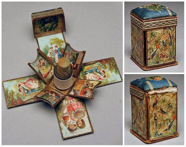 Belle cose del cuore: cucito, decorazioni e altro: accessori ricamo Vintage: contenitori di monili, barra ago, filo titolari