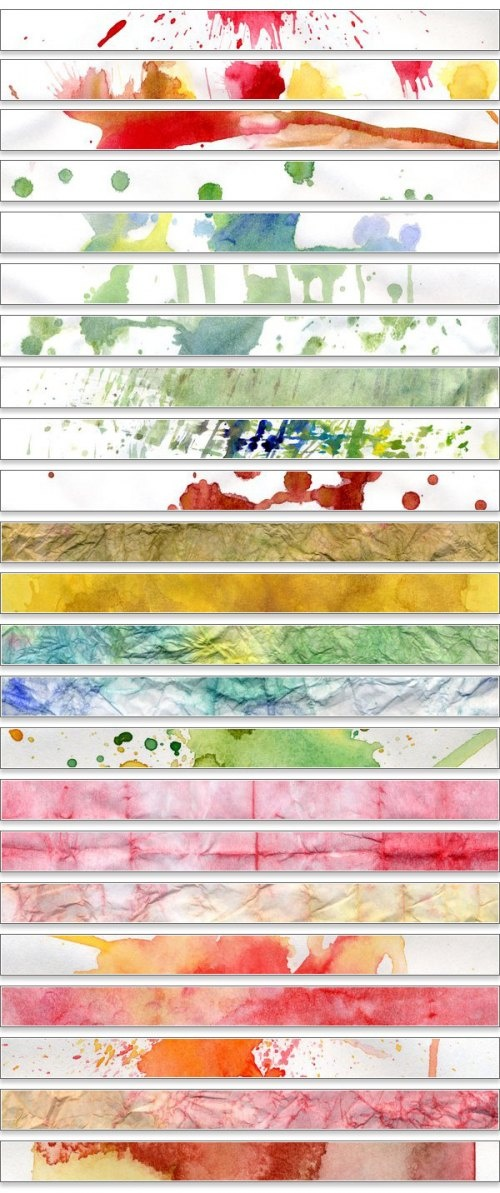 WaterColor-free downloadable backgrounds. Also love the strips of watercolor displayed like this!