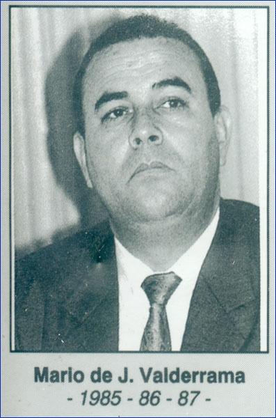Mario de J. Valderrama 1985-1986-1987