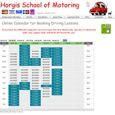Bookingbug online driving lesson booking system I use at Horgis school of Motoring