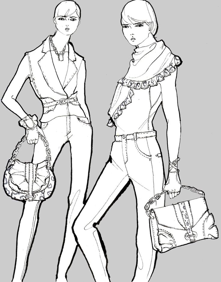 fashion coloring pages Fashion designer coloring pages