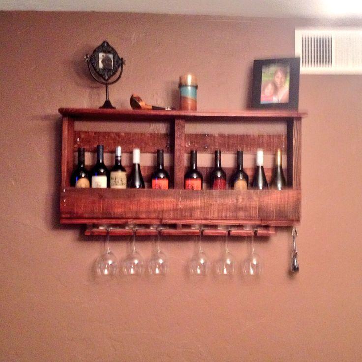 Pallet wine rack! DIY wine rack!