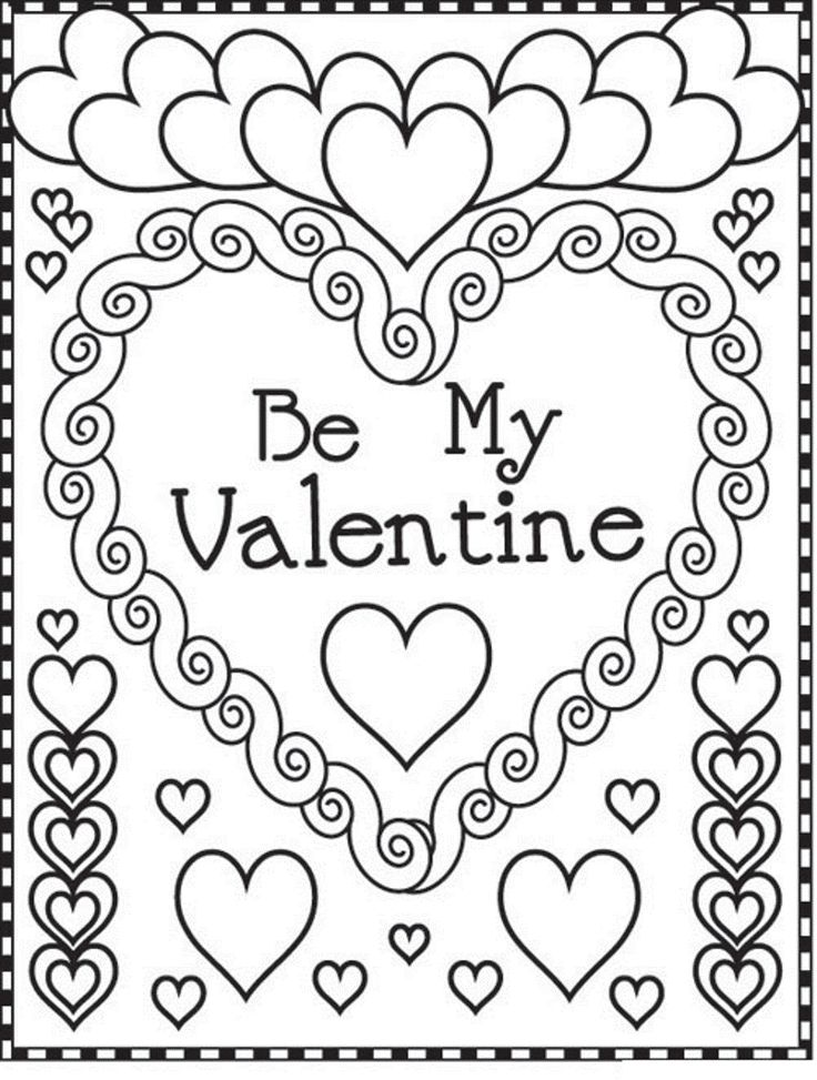 valentine coloring page printable