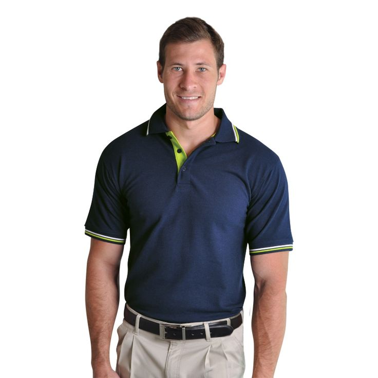 Raised Ridge Polo BRAND: TEE & COTTON Has side slits for comfort and ease of movement and pearlised engraved buttons