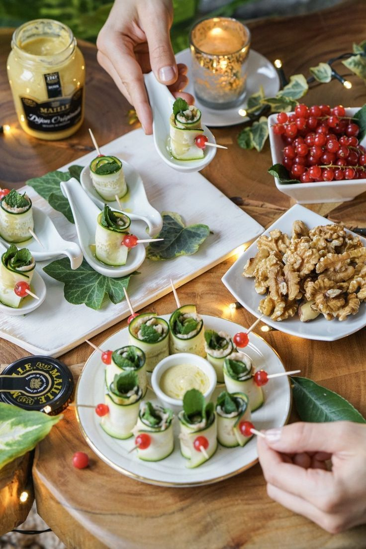 Holiday Party Finger Food Gluten Free Zucchini Rolls Recipe Party Finger Foods Healthy
