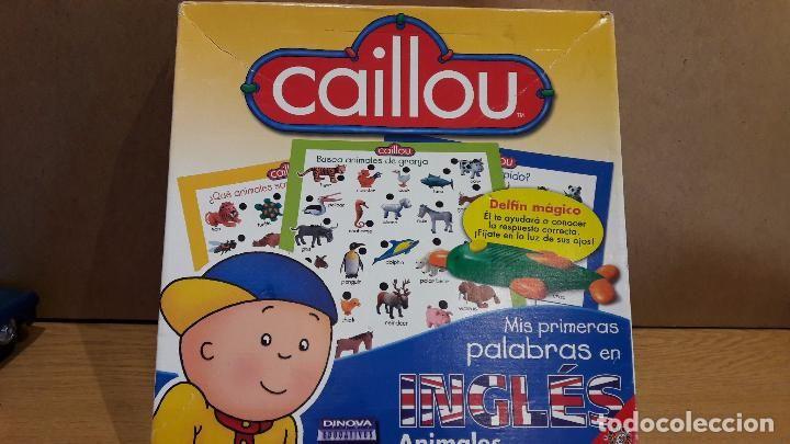 CAILLOU. MIS PRIMERAS PALABRAS EN INGLÉS. / DELFÍN MÁGICO. COMPLETO CASI NUEVO.