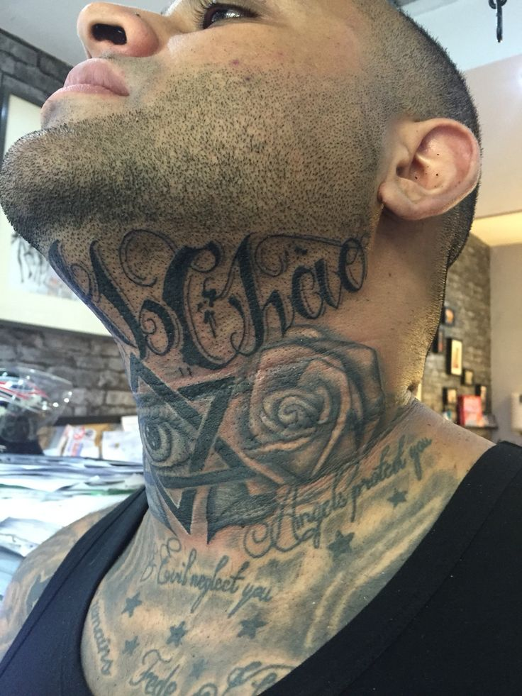 20 Under The Chin Tattoos You Didn T Know You Needed To Boost Your