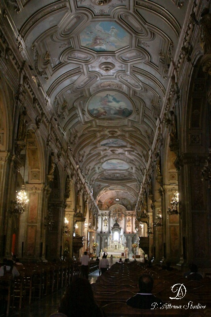 Catholic Church in Santiago, Chile. Catholicism is Chile's major religion, it s estimated that almost 80% of Chileans are Catholic.