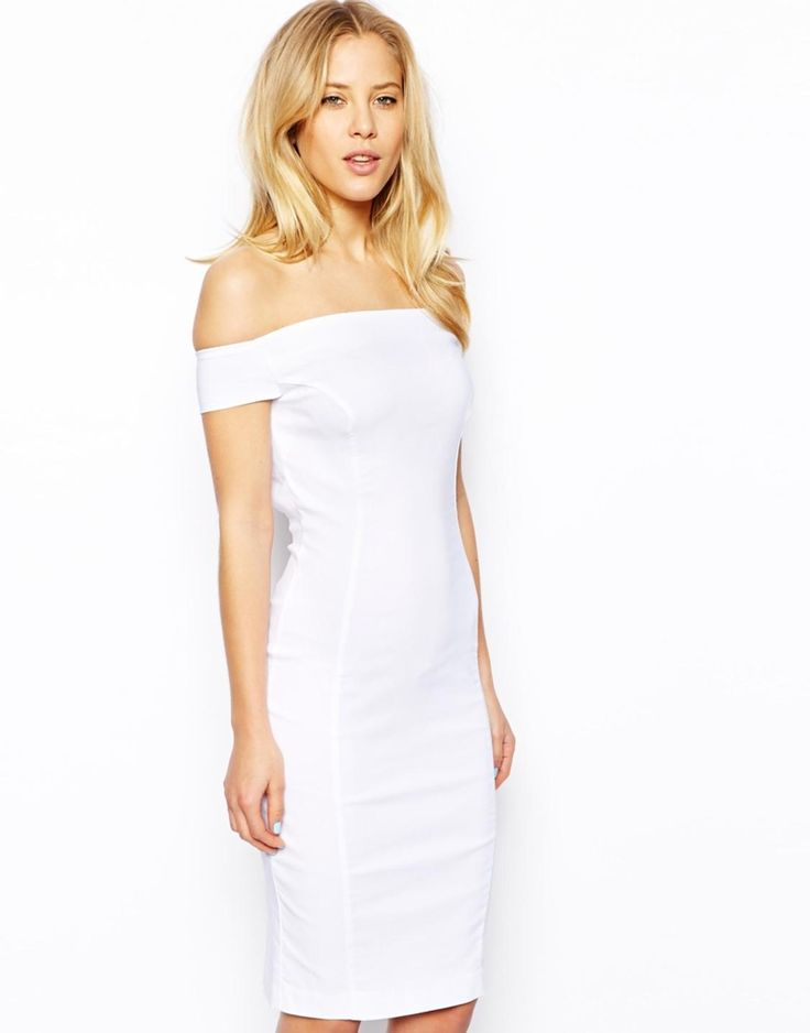 Bardot Petite Bodycon Dress With Strappy Back