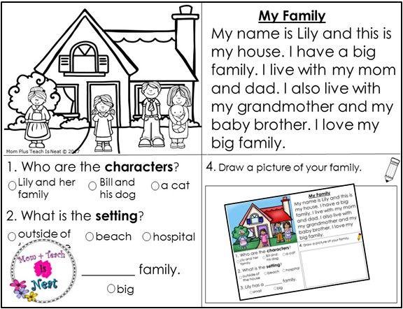 Kindergarten Character Worksheets