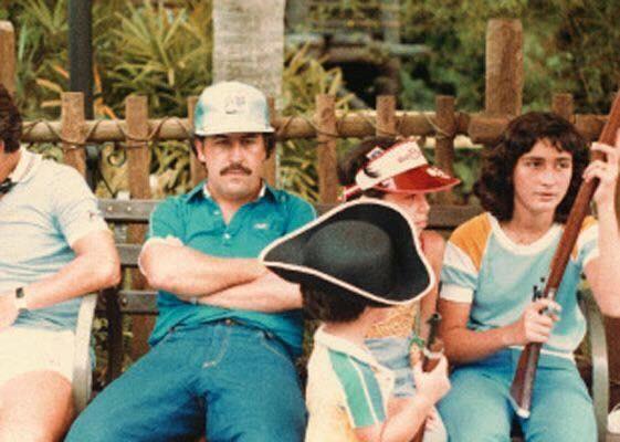 Pablo Escobar with his family at Disney Land 1981.