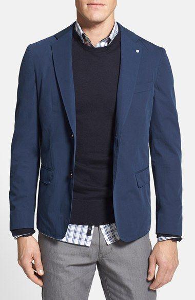Men's Gant 'The Poplin' Classic Fit Cotton Blazer | 50% OFF