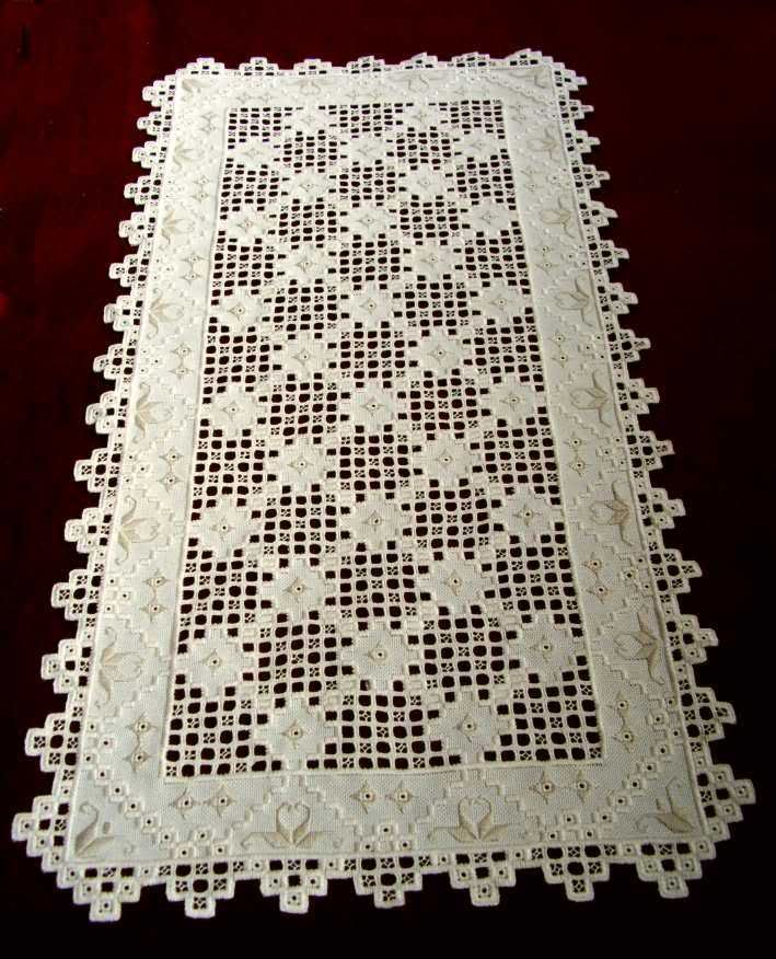 Hardanger Doily With Lilies Of The Valley Photo: This Photo was uploaded by sonnenblume5. Find other Hardanger Doily With Lilies Of The Valley pictures ...