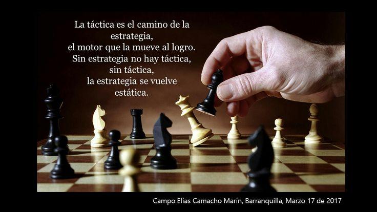 Estrategia y táctica van de la mano, no podemos aplicarlas de manera aislada.