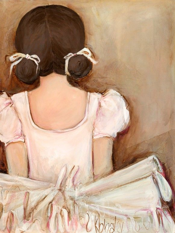 """""""Lovely Ballerina - Brunette"""" Canvas Wall Art from Oopsy Daisy, Fine Art for Kids. Size 10''x14'' for $59. Multiple sizes and additional framing options available. Browse our collection of wall art for kids!"""